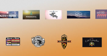 Banner with all logos in the starting line events