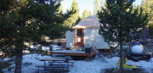 A Yurt in the snow