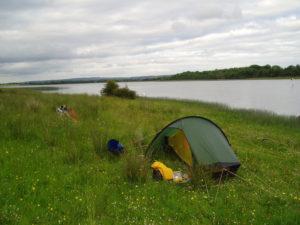 kayak camping shoreline