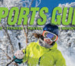 Banner of Woman skier with Outdoor Sports Guide masthead behind