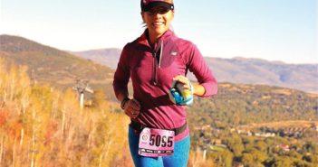 Editor Jenny Willden running