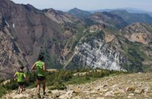 Two mountain runners at snowbird