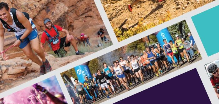 Photo collage of race events