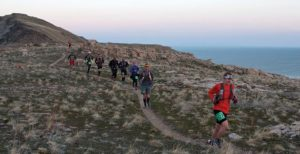 Runner's on a trail during the Buffalo Run