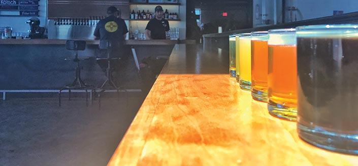 Inside the Fischer brew pub