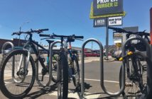 bicycles outside a business