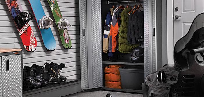 Gear organization system in a garage