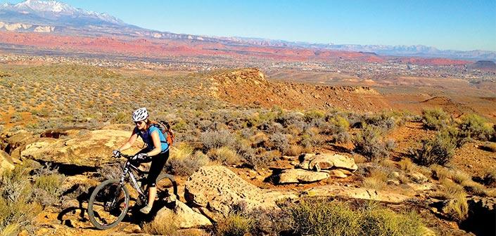 AUTUMN mountain bike ride in St. George