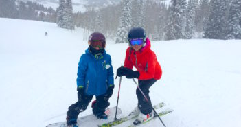 kids learn to ski at learn to ski and snowboard month