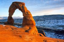 delicate arch utah winter hiking