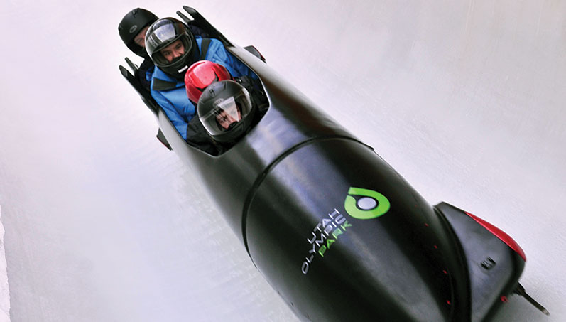 Bobsledding at the Utah Olympic Park