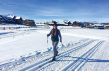 Editor Jenny Willden Cross-country skiing at Devil's Thumb Ranch.