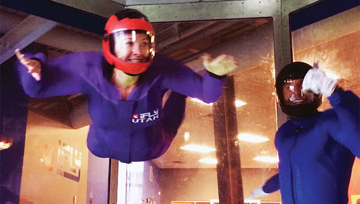 Melissa McGibbon at iFLY Indoor Skydiving