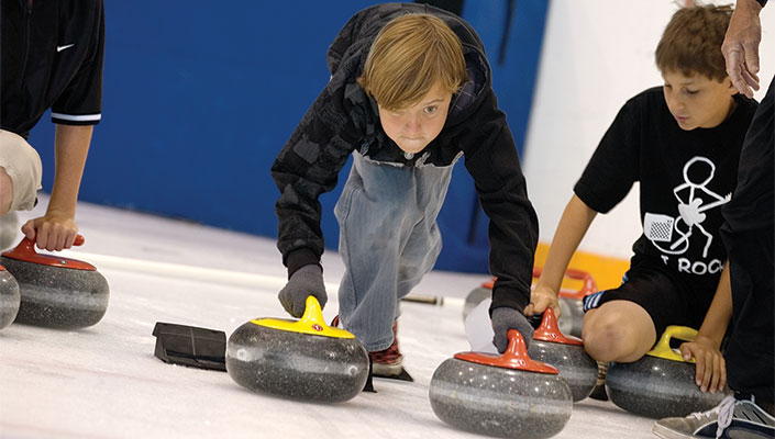 Kids Curling at the Utah Olympic Oval
