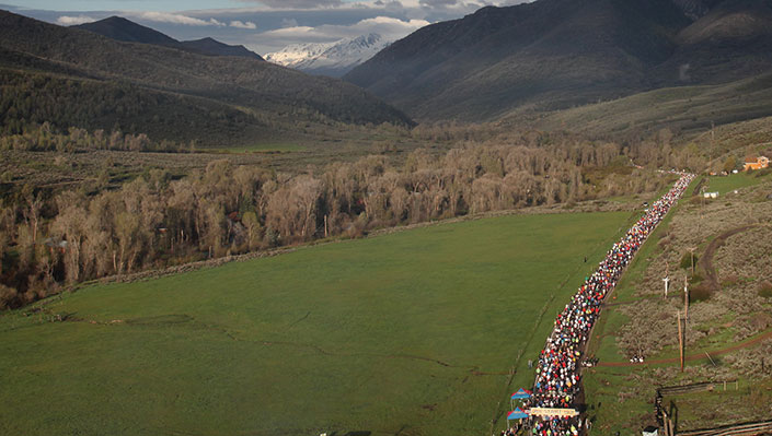 aerial photography of the Ogden Marathon
