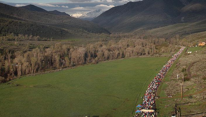 aerial photography of the Ogden Marathon