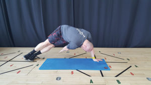 Side Plank with Trunk Rotation and Push-up example