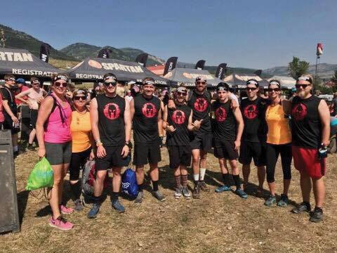 The author's Spartan team