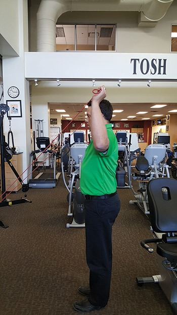 Standing External Rotation and Internal Rotation with Resistance Band example
