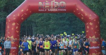 Nebo Half Marathon starting line runners