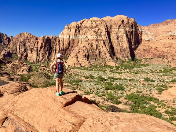 Hiking in Snow Canyon State Park near Red Mountain Resort.