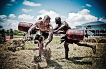 Spartan race participants