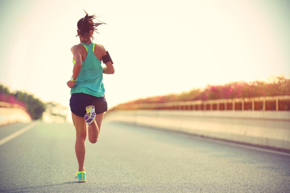 runner on a bridge