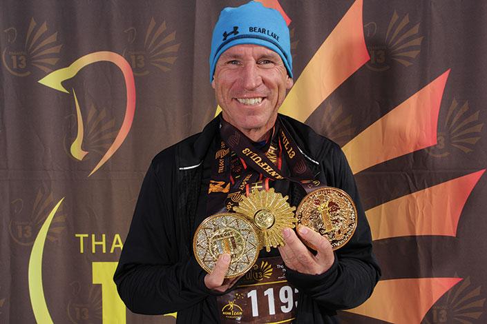 Thankful 13 finish medal winner