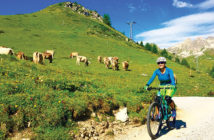 Editor Jenny Willden in the Swiss mountains