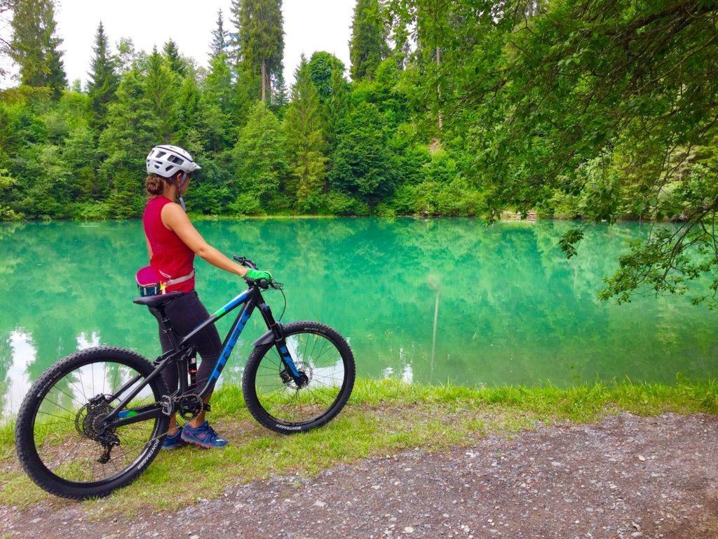 Flims Forest Switzerland biking