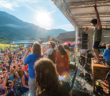Snowbasin Music festival stage and crowd
