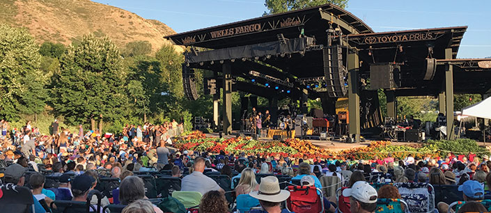 Red Butte Garden stage and crowd