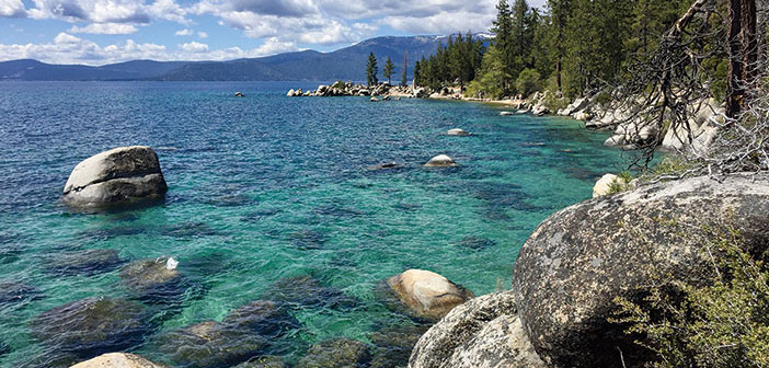 Photo of the shores of Lake Tahoe
