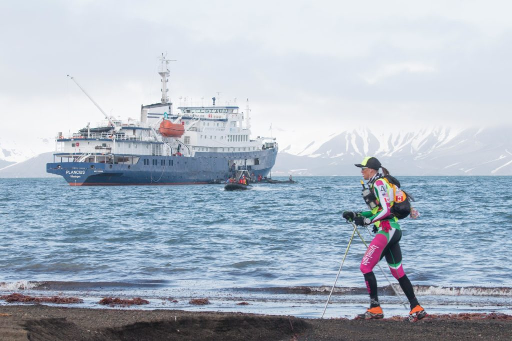 Jax Mariash racing in Antarctica
