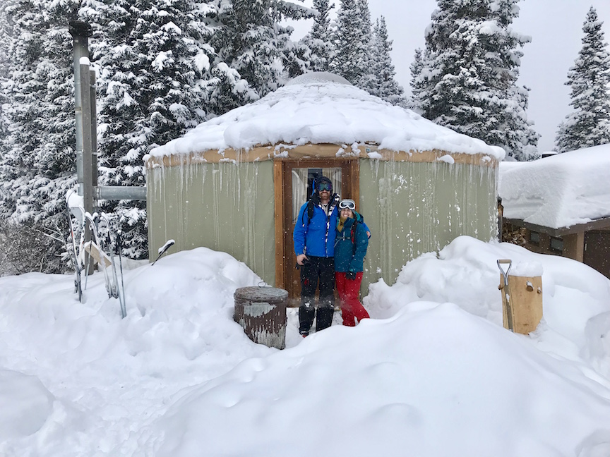 Big Water Yurt on a powder day in Millcreek Canyon