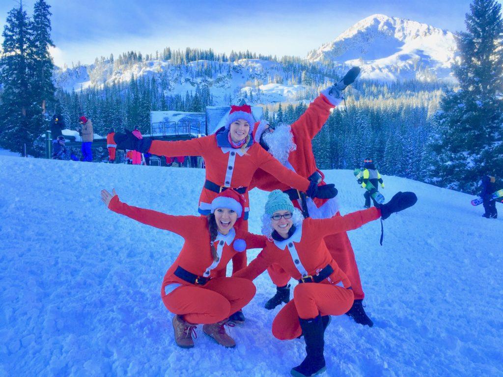 Santa Skis Free Brighton for Utah ski resort holiday events