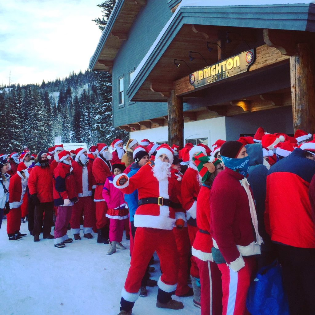 brighton santa skis free day utah ski resort holidays