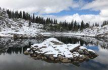 Utah Winter hikes lake mary