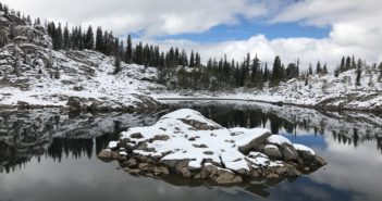 Utah Winter hikes lake mary