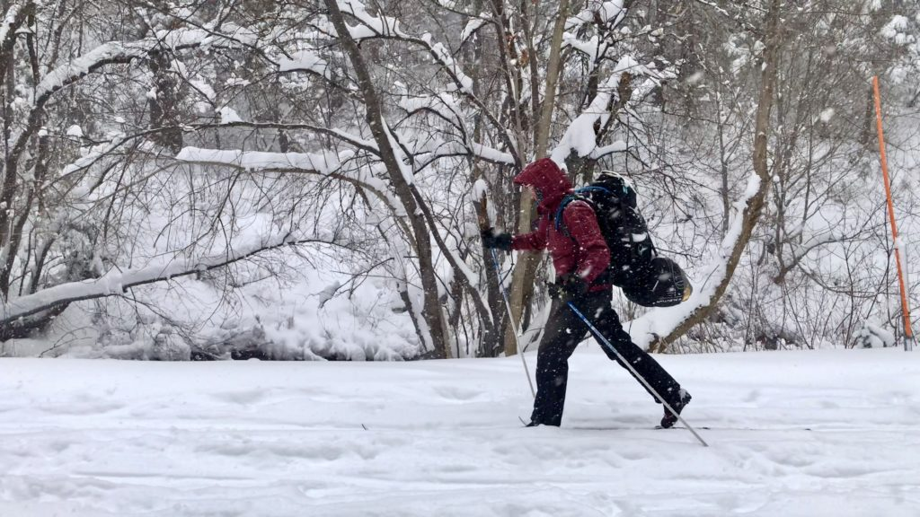 Mill creek canyon cross-country skiing