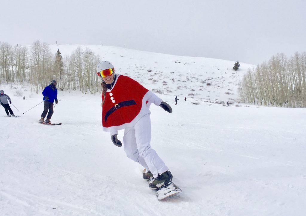 santa skis park city for utah ski resort holiday events