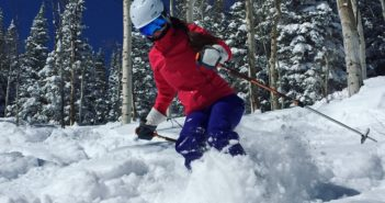Melissa McGibbon Skis Steamboat Resort