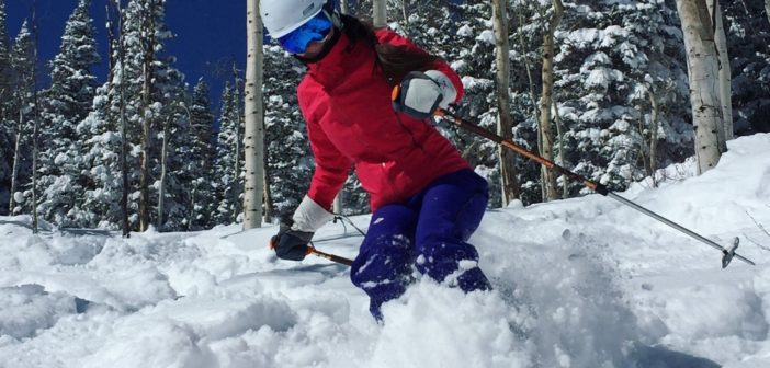 Melissa McGibbon Skis Steamboat Resort