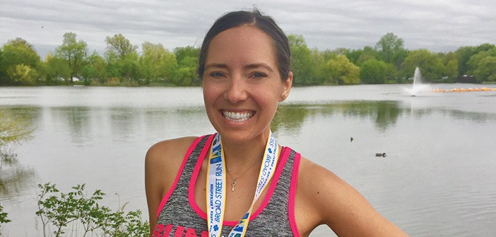 Editor Jenny Willden at the Broad Street Run finish in 2018