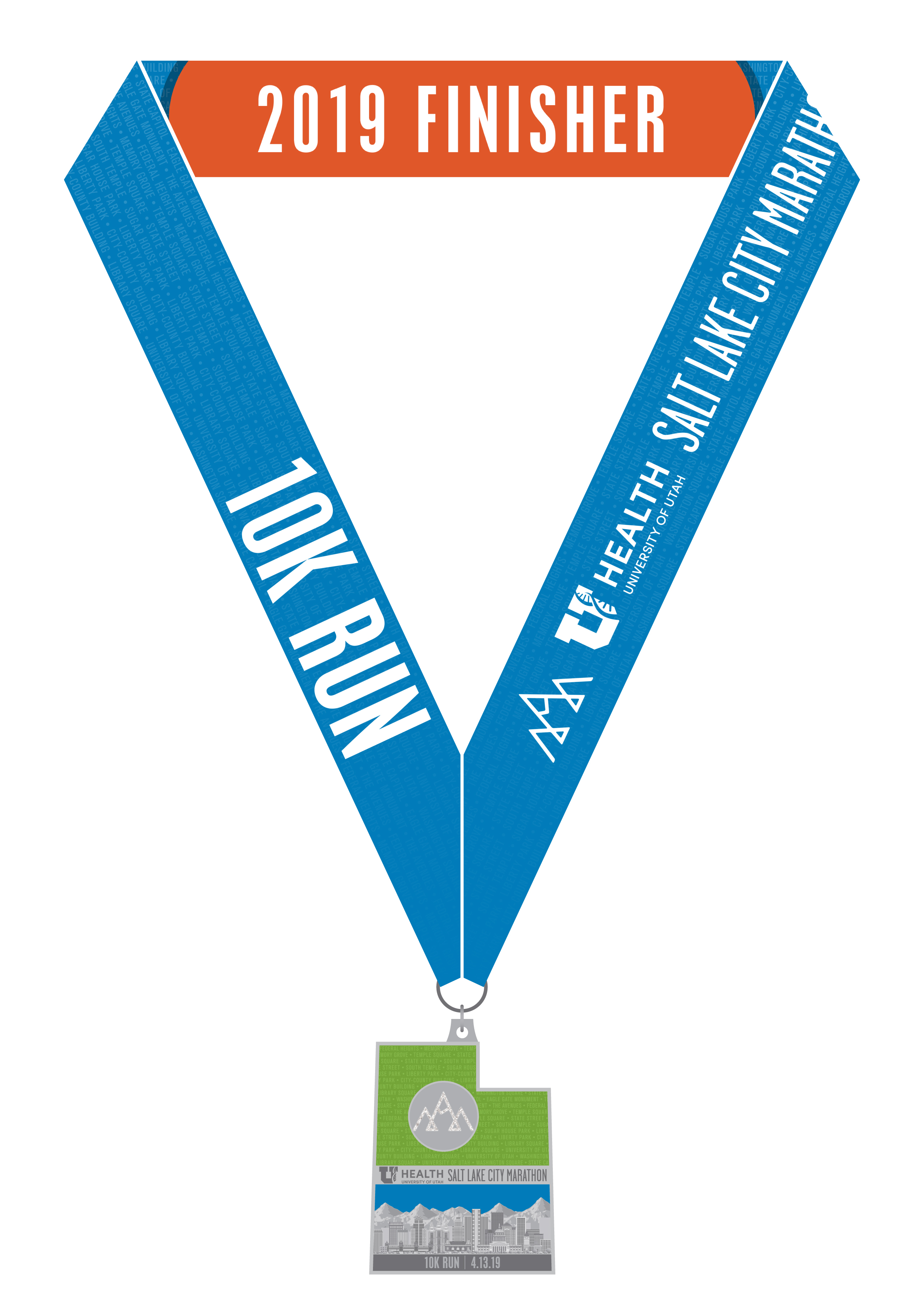 salt lake marathon 10K medal