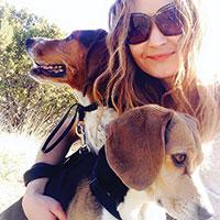 Tara McFarland and her pups