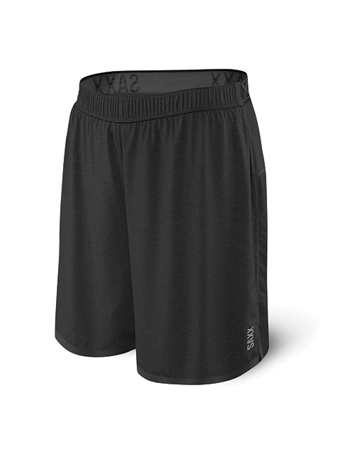 black Saxx Men's 2N1 Pilot Running Shorts