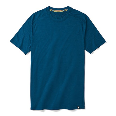 blue Smartwool Men's Merino Sport 150 Tech Tee