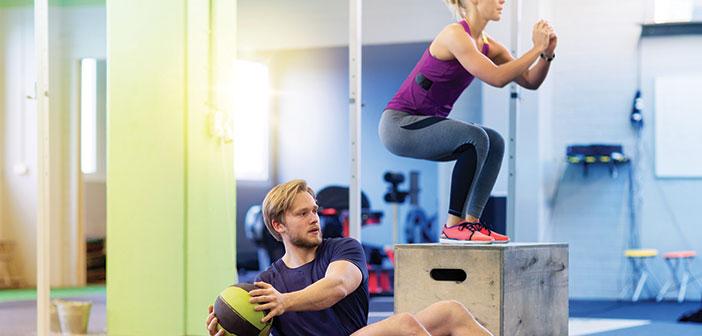 workout partner couple