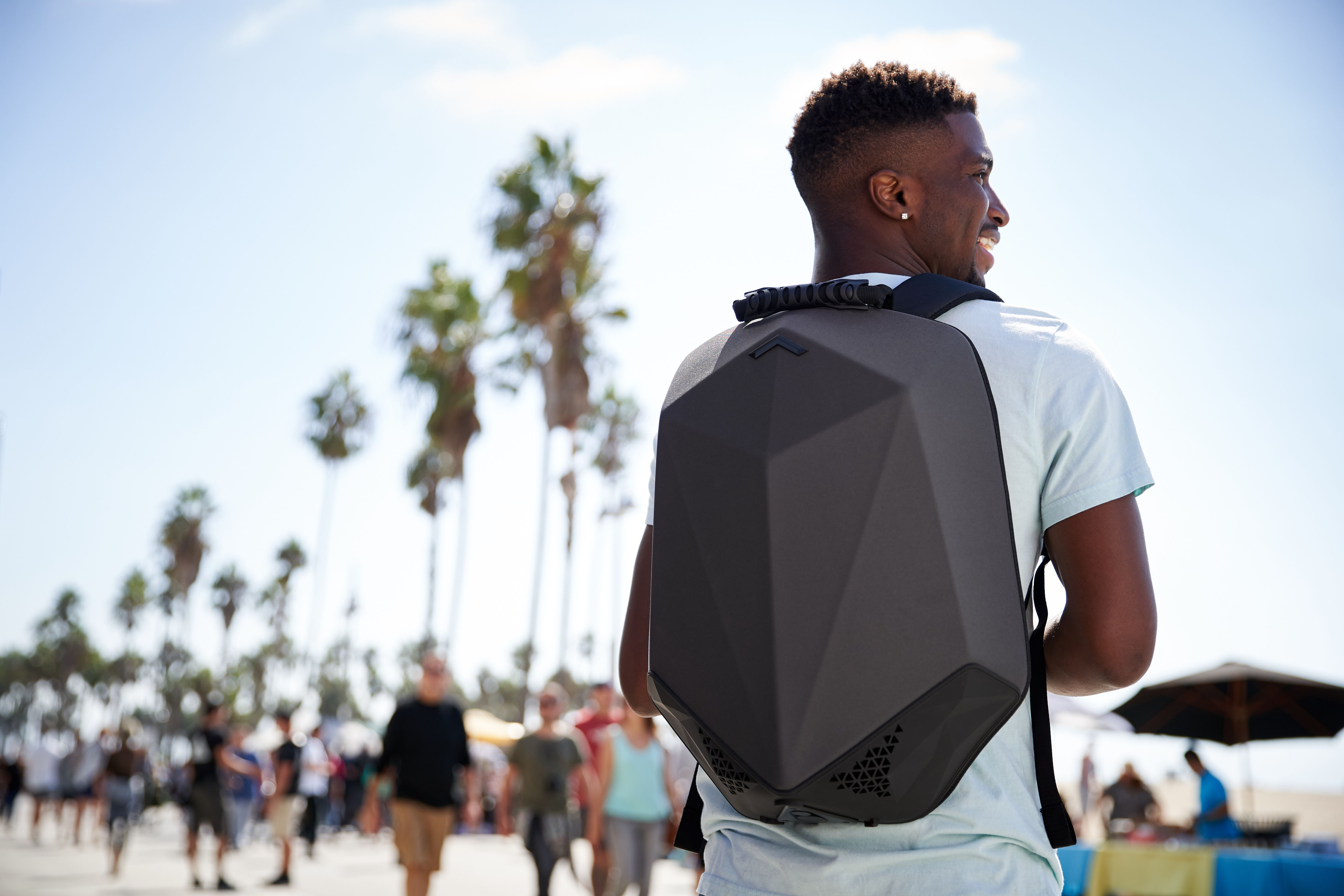 stealth speaker backpack palm trees